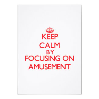 Gardez le calme en se concentrant sur l'amusement invitations