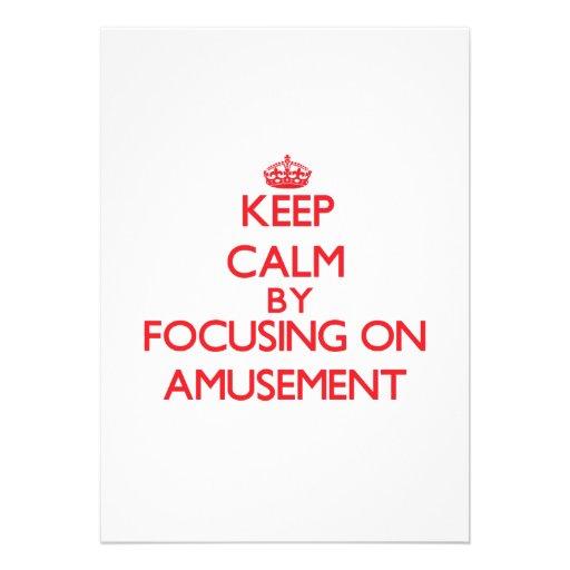Gardez le calme en se concentrant sur l'amusement cartons d'invitation personnalisés
