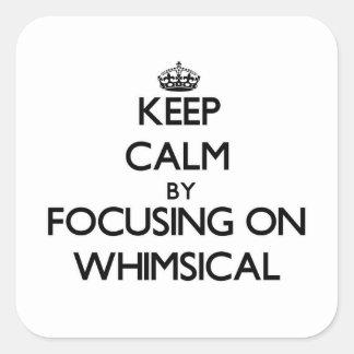 Gardez le calme en se concentrant sur lunatique stickers carrés