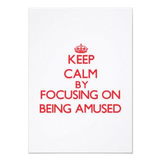 Gardez le calme en se concentrant sur s'amuser bristol personnalisé