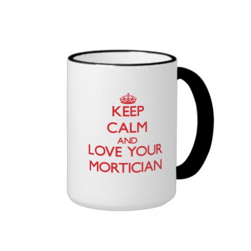 Gardez le calme et aimez votre entrepreneur de pom mug