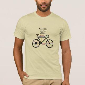 Gardez le calme et allez faire du vélo, avec des t-shirt