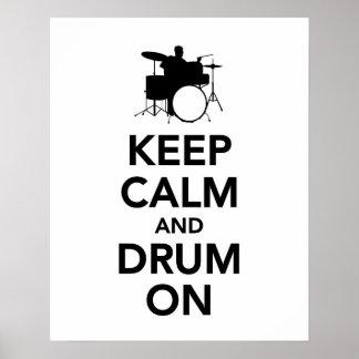 Gardez le calme et battez du tambour dessus