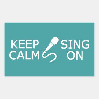 Gardez le calme et chantez sur les autocollants