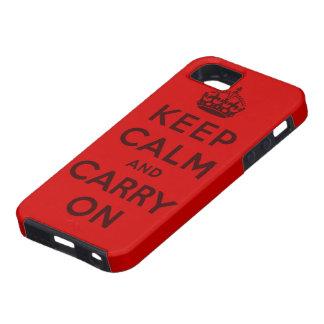 gardez le calme et continuez l'original iPhone 5 case