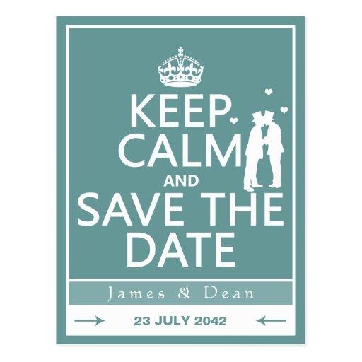 Gardez le calme et faites gagner la date (entièrem carte postale
