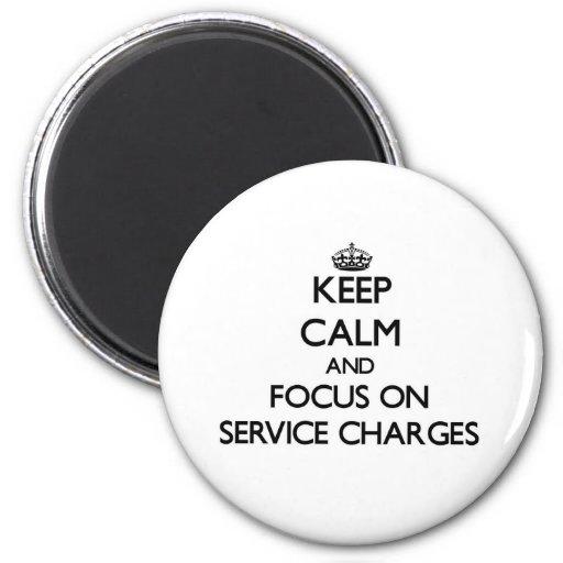 Gardez le calme et le foyer sur des frais administ magnets pour réfrigérateur