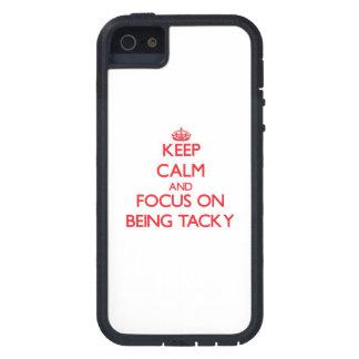 Gardez le calme et le foyer sur être de mauvais coque iPhone 5