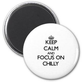 Gardez le calme et le foyer sur frais aimants pour réfrigérateur