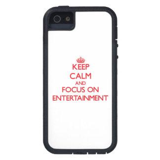 Gardez le calme et le foyer sur le DIVERTISSEMENT Coque iPhone 5