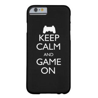 Gardez le calme et le jeu dessus coque iPhone 6 barely there