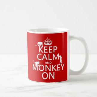 Gardez le calme et le singe dessus - toutes les mug