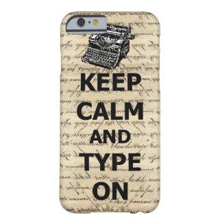 Gardez le calme et le type dessus coque iPhone 6 barely there