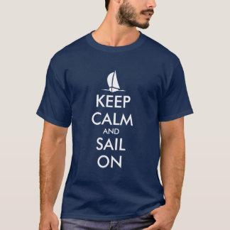 Gardez le calme et naviguez sur la conception t-shirt