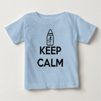 Gardez le calme et rampez dessus - jumelez A T-shirt Pour Bébé
