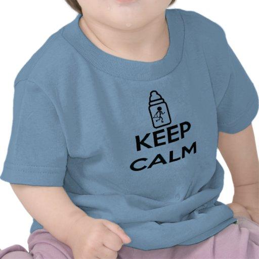 Gardez le calme et rampez dessus - jumelez A T-shirts