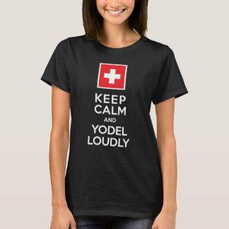Gardez l'humour de Suisse de calme et de T-shirt