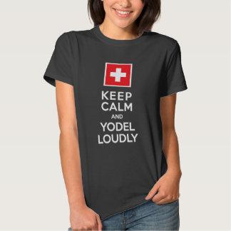 Gardez l'humour de Suisse de calme et de Tee-shirts