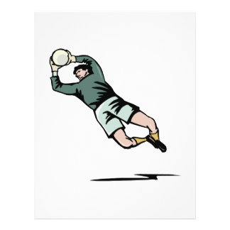 Gardien de but du football prospectus customisé