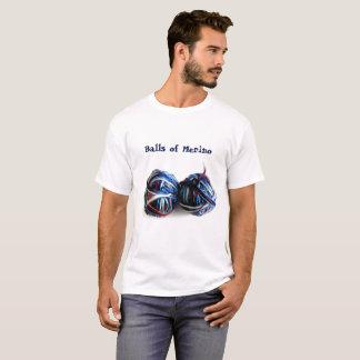 Garn-strickende Häkelarbeit-T - Shirt Merinowollen