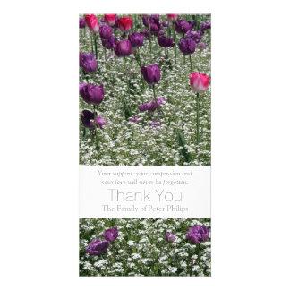 Garten 1 - Tulpen - Beileid danken Ihnen Foto Karten Vorlage
