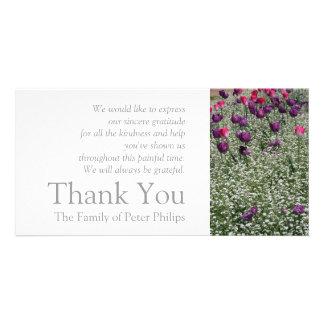 Garten 1 - Tulpen - Beileid danken Ihnen Foto Grußkarte