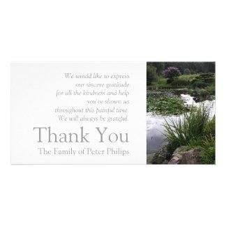 Garten 2 - Friedlicher Teich - Beileid danken Photokarten