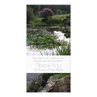 Garten 2 - Friedlicher Teich - Beileid danken Bildkarte