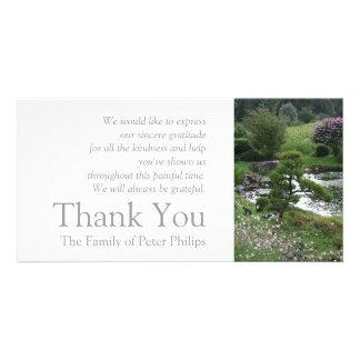 Garten 3 mit Katzen - Beileid danken Ihnen -2- Bildkarte