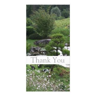 Garten 3 mit Katzen - danke Foto-Karten -1- Personalisierte Foto Karte