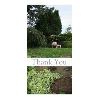 Garten 4 - Lehnsessel - danke Foto-Karte -1 Individuelle Fotokarte
