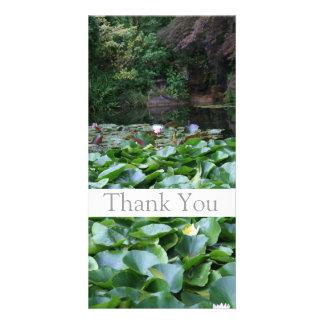 Garten 5 - Lotos - danke Foto-Karten -1- Individuelle Photo Karte