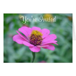 Garten-Blumen-Einladung Karte