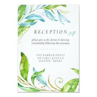 Garden Flower Watercolor Wedding Reception Card