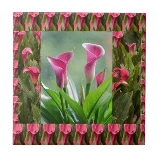 GARTEN Collage: Schöne Blumen Keramikfliese