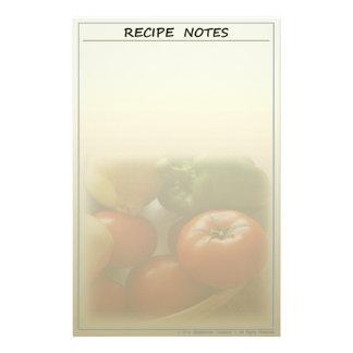 Garten-frisches Rezept-Briefpapier Briefpapier
