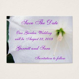 Garten-Hochzeit Visitenkarte