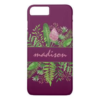 Garten-Holz-botanische Typografie iPhone 8 Plus/7 Plus Hülle