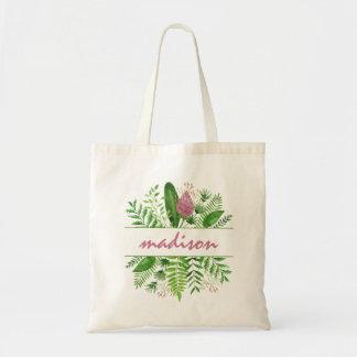 Garten-Holz-botanische Typografie Tragetasche