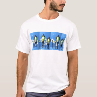 Garten-Lampen-Fotos auf T - Shirts