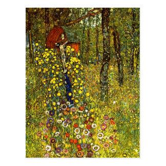 Garten mit Kruzifix durch Gustav Klimt Postkarte