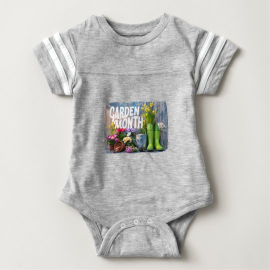 Garten-Monat Baby Strampler