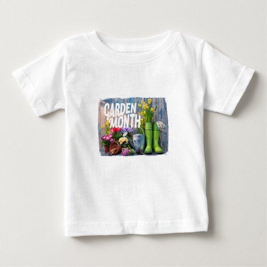 Garten-Monat Baby T-shirt