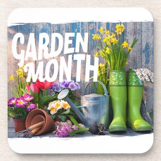Garten-Monat Getränkeuntersetzer