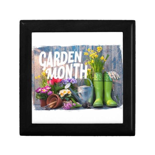 Garten-Monat Kleine Quadratische Schatulle