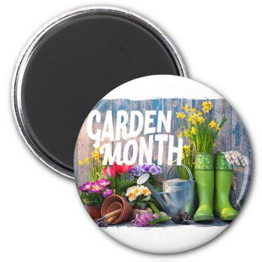 Garten-Monat Runder Magnet 5,7 Cm