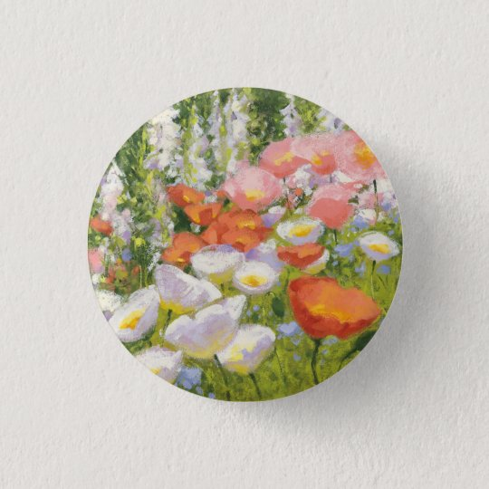 Garten-Pastelle Runder Button 2,5 Cm