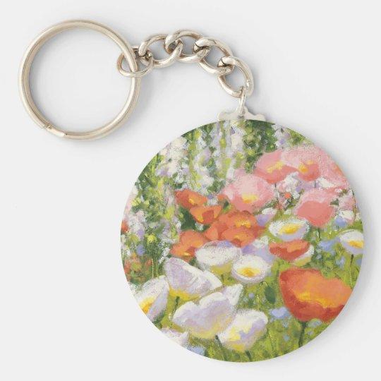 Garten-Pastelle Schlüsselanhänger