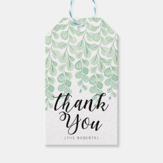 Garten-Rebe-Aquarell | danken Ihnen Geschenkanhänger