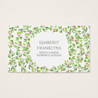 Garten-Rebe-Blüten-Aquarell Visitenkarten